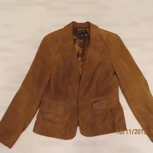 INC International Concepts Sz M Leather Jacket